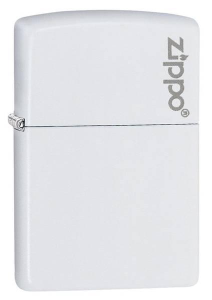 Bilde av Zippo - Klassisk Matt Hvit med Logo - Lighter