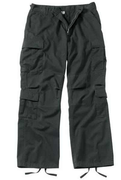 Bilde av Vintage Black Paratrooper Bukse