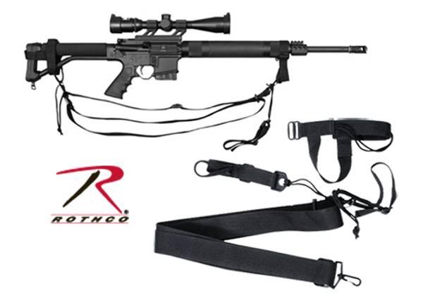 Bilde av Military 3 Point Rifle Sling - Sort