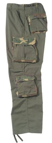 Bilde av Vintage Olive Drab Bukse med Camo-lommer - XS *UTGÅENDE*