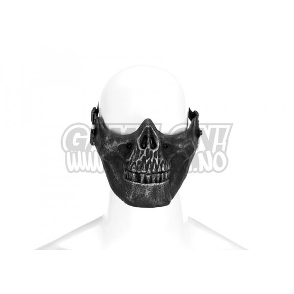 Bilde av Skull Half Face Mask - Metallic