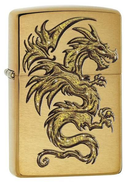 Bilde av Zippo - Gull Drage Motiv - Lighter