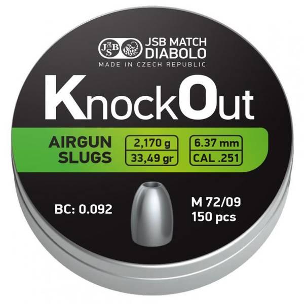 Bilde av JSB - KnockOut Slugs - 6.35(6.37)mm - 150stk