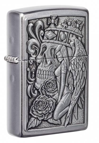 Bilde av Zippo - Skull and Angel Emblem - Lighter