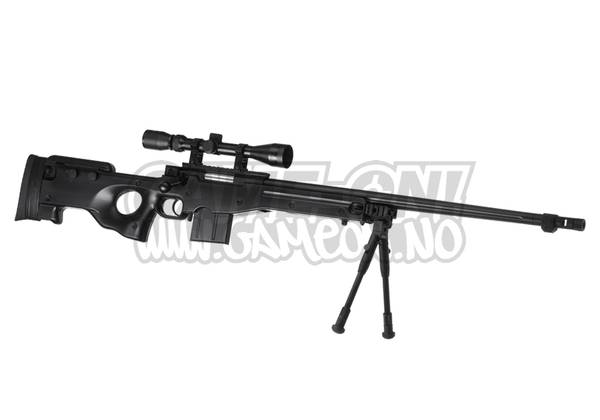 Bilde av L96 AWP Softgun - Oppgradert Sniper Rifle Set - Svart