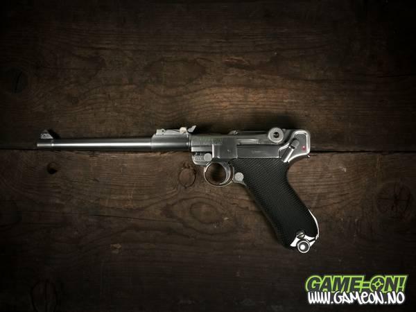 Bilde av WE - Luger P08 8inch Full Metall - Sølv