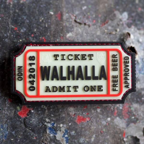 Bilde av Patch - Large Walhalla Ticket Rubber - Selvlysende