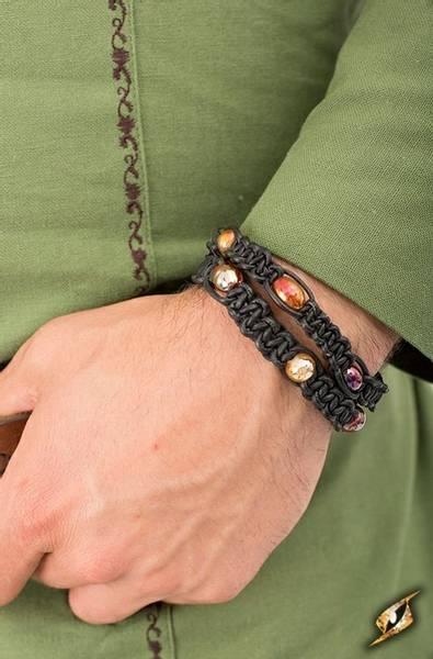 Bilde av Lærarmbånd med perler - Svart